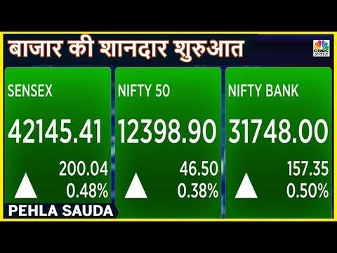 रिकॉर्ड ऊंचाई पर खुला Sensex - Nifty, रियल्टी इंडेक्स चमका | Pehla Sauda | CNBC Awaaz