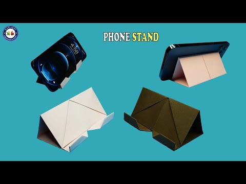 How To Make A Phone Stand - Phone Stand Paper - DIY