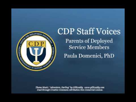 CDP Podcast Parents of Deployed Service Members