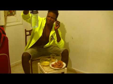 English guy eating Gari Nigeria   West Africa  Mark Angel of Comedy