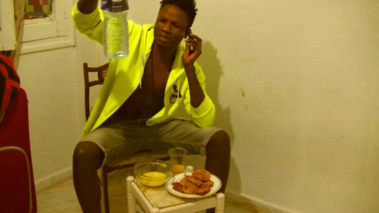 Download English guy eating Gari Nigeria   West Africa  osas Ben Comedy