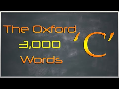 The Oxford 3000 Words List - Words starting with Letter 'C' - Learn English Words Vocabulary