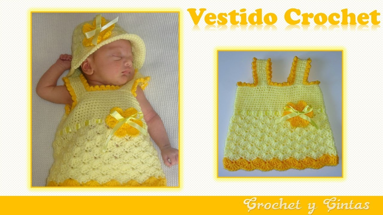 1366a9f30 Vestido de verano para niñas tejido a crochet (ganchillo) – Parte 1 ...