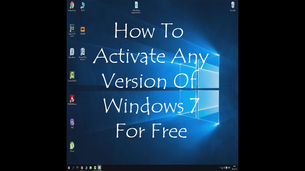 activate your windows 7 for free