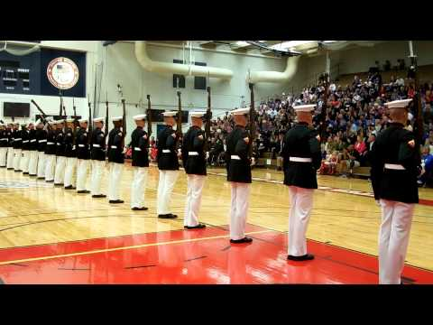 Marine Silent Guard at 2013 Warrior Games