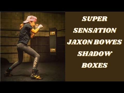 Super sensation 8 year old boxer Jaxon Bowes shadow boxes