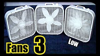 ✮ 3 FANS 3 SPEEDS = SLEEP Like A Baby ( Screen Dims )                                  ~ White Noise