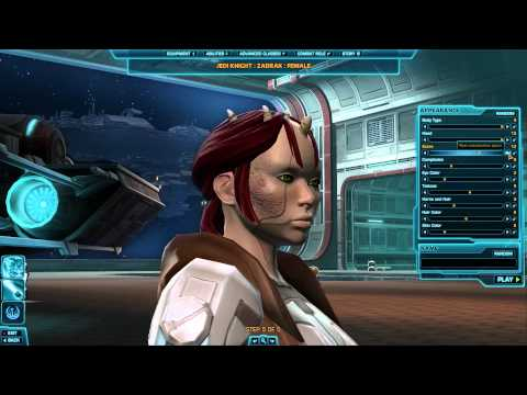[Star Wars] Character Creation: Zabrak Male & Female (Republic)