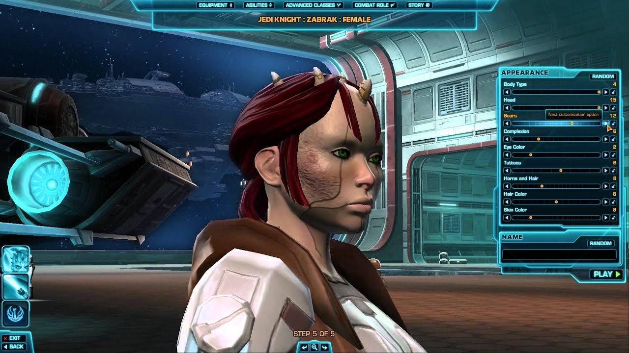 Star Wars Character Creation Zabrak Male Female Republic Youtube