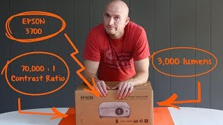 (Unboxing) Epson 3700 -- Projector as living room TV on a wall / no screen