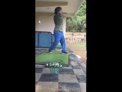 Golf fist time first shot