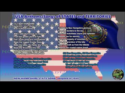 New Hampshire State Song OLD NEW HAMPSHIRE version by Rick Pickren with lyrics