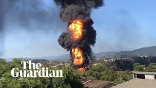Fuel tanker in Wollongong explodes in fireball