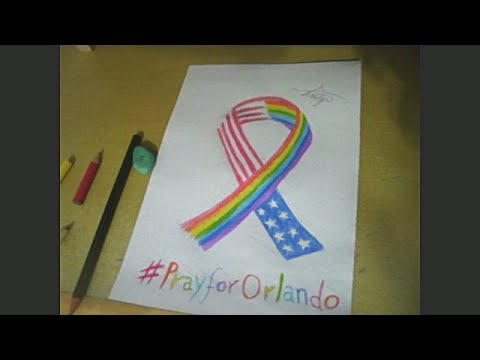 Pray For Orlando -  Speed Drawing #2 -  Canepu TV