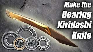 Knife Making Kiridashi DIY: Make a 100 Dollar  Kiridashi Knife With 5 Cent Bearing