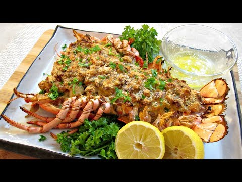 Stuffed Lobster - Creamy Shrimp, Scallops And Crab Meat - PoorMansGourmet