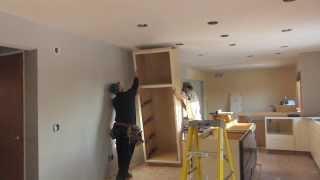 Tall Cabinet Install