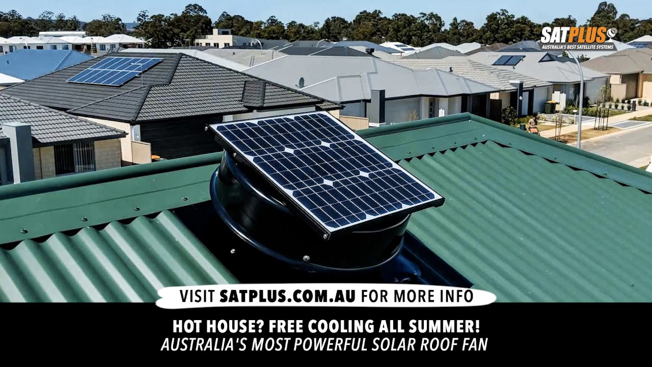 solar roof ventilation fan outdoor extraction fan home and shed