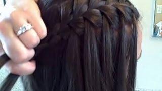 Коса водопад: схема плетения, фото, картинки, видео