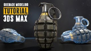Grenade Tutorial - Part 1 - Modeling & UV Unwrapping - 3Ds Max 2016