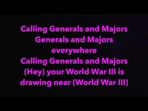 XTC Generals & Majors karaoke