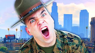 DRILL SERGEANT IS BACK IN GTA 5! (GTA V Trolling)