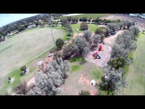 Afternoon Flight at Red Cliffs Ovals 4 - Testing Corner Post Colours