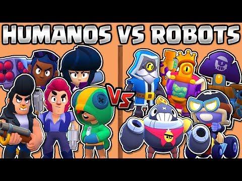 HUMANOS VS ROBOTS | CUAL ES MEJOR? | OLIMPIADAS de BRAWL STARS | NUEVO BRAWLER | HUMANS VS ROBOTS