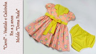 Aprenda Fazer Vestido e Calcinha Infantil