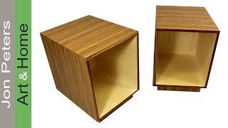 How to Use Wood Veneer -  Build Simple End Tables