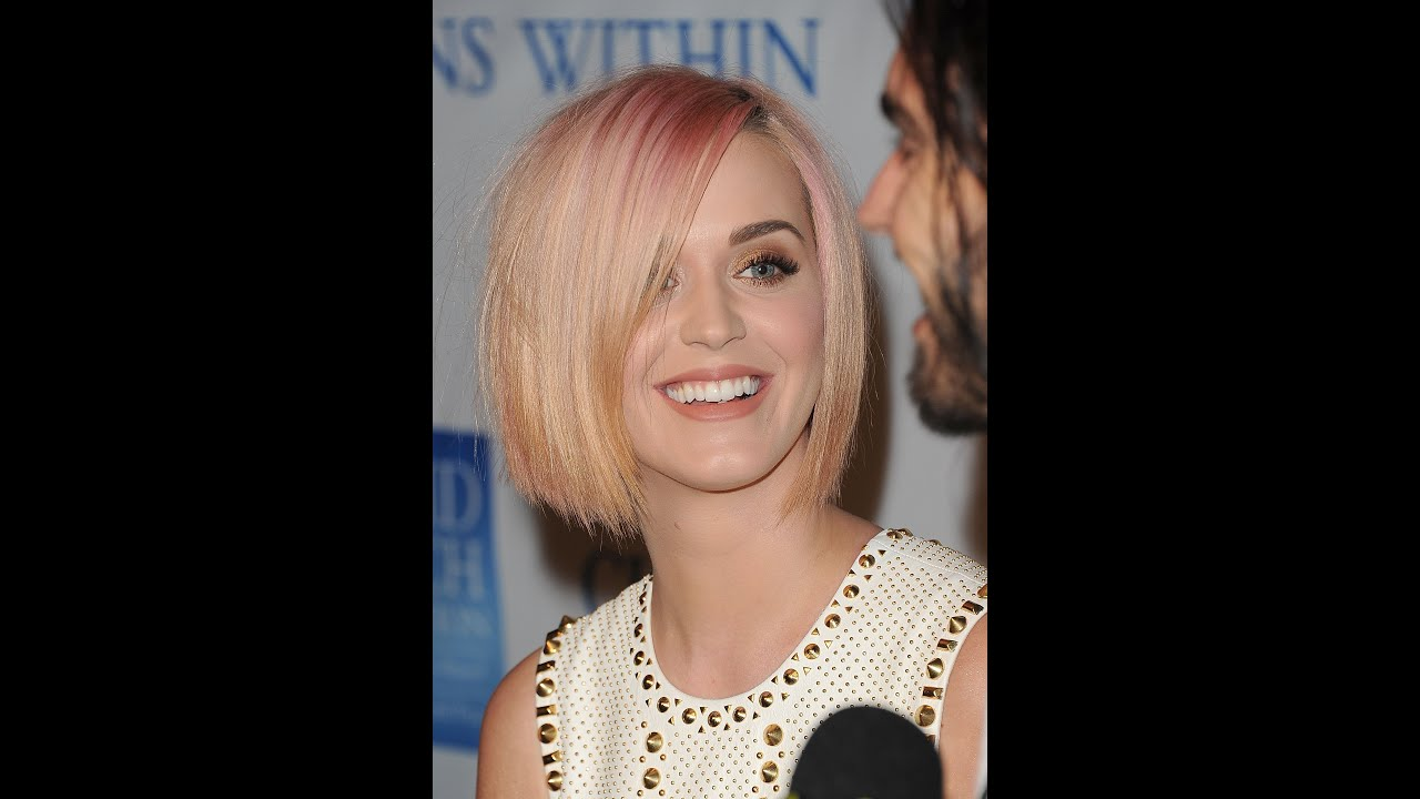 katy perrys new blonde short do youtube