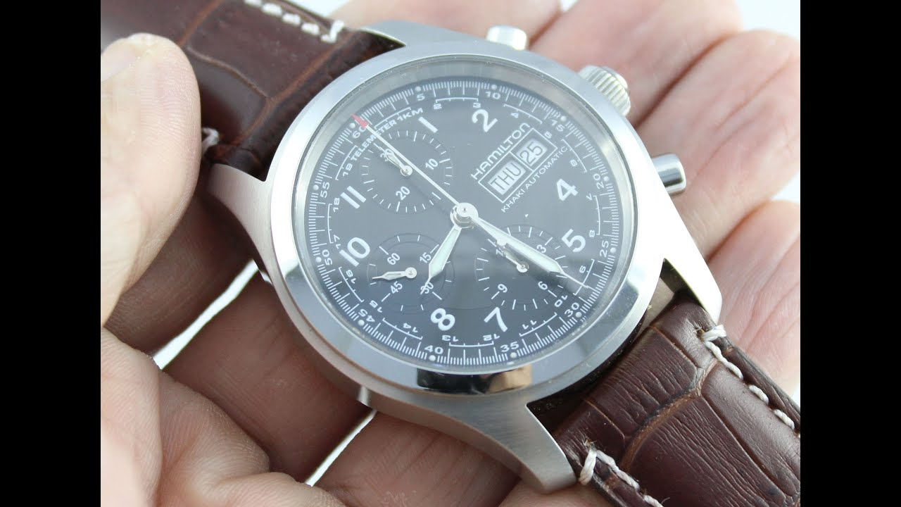 f5cbd8bbf Hamilton Khaki Field Military Chronograph Watch Review - YouTube