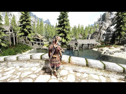Skyrim 2021 Ultra Modded 4K : Best Next Gen Graphics | TKV& ENB NAT weather and Raytracing