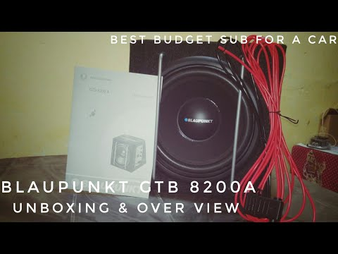 Blaupunkt GTb 8200a 8 inch active subwoofer   unboxing and overview