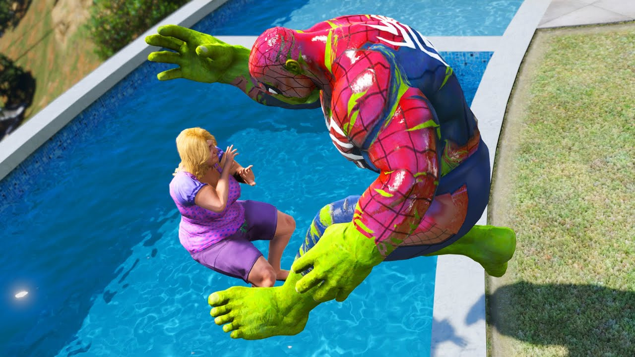 GTA 5 Water Ragdolls | Spider-Hulk Jumps/Fails #2 (Euphoria Physics | Funny Moments)