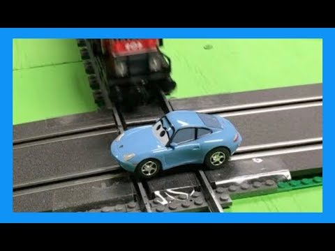 Slot Car Sally the Porsche 911 Carrera Disney Cars vs LEGO Train
