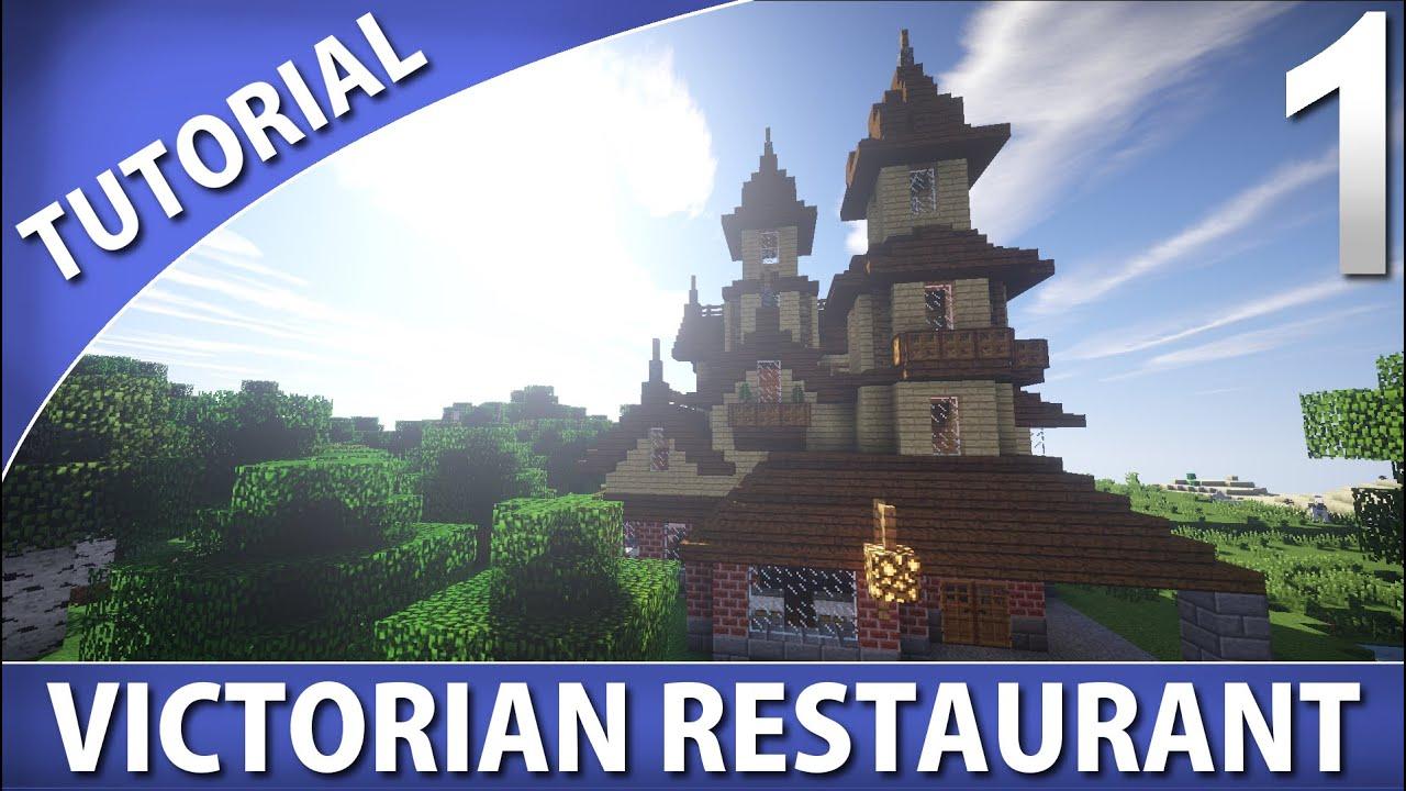 Minecraft how to build a victorian restaurant part 1 4 for How to build a victorian house