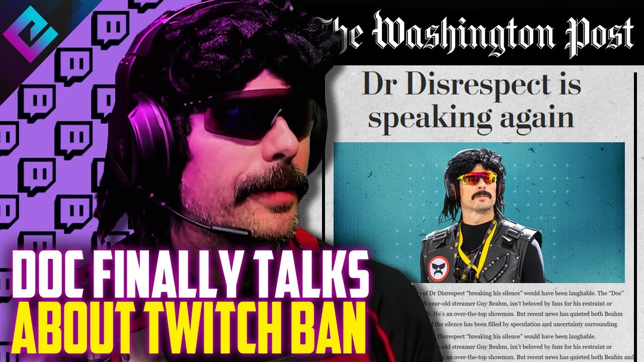 Twitch bans Dr Disrespect -- Everything we do (and don't) know