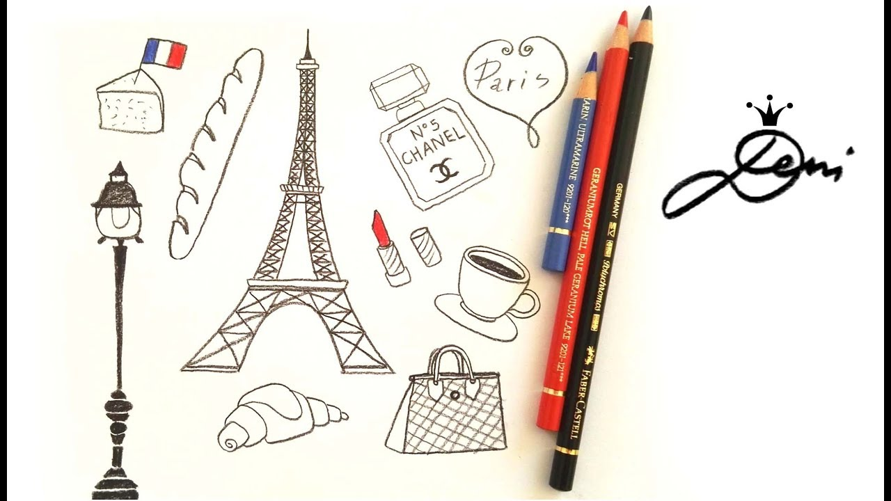 frankreich schnell zeichnen lernen eiffelturm paris doodles eifelturm. Black Bedroom Furniture Sets. Home Design Ideas