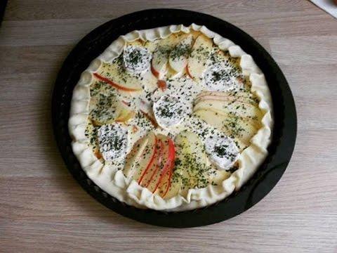 ●-recette-●-tarte-aux-pommes,-chèvre-et-carotte