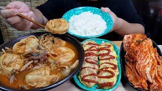용암 만두찌개+해물완자전+오김치+사발쌀밥 요리먹방 MUKBANG