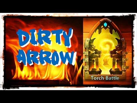 Castle Clash: Torch Battle - Dirty Arrow Strategy #3 Of 3