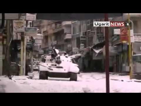 18 2 Al Zabadani Damascus أوغاريت الزبداني ريف دمشق , الدبابات المتمركزة في ساحة المحطة