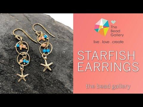 Starfish Earrings Tutorial At The Bead Gallery, Honolulu!