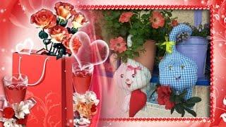 Влюблённые коты ко дню СВ.Валентина своими руками
