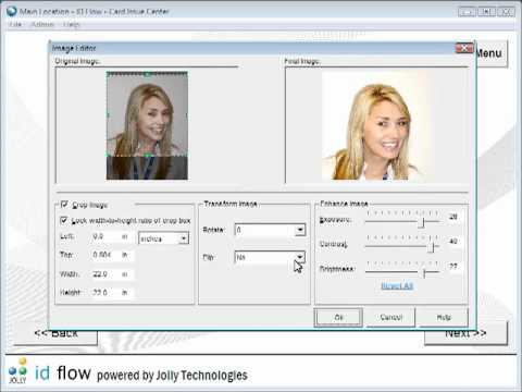 Technology Card Id Printing Flow Software Youtube -