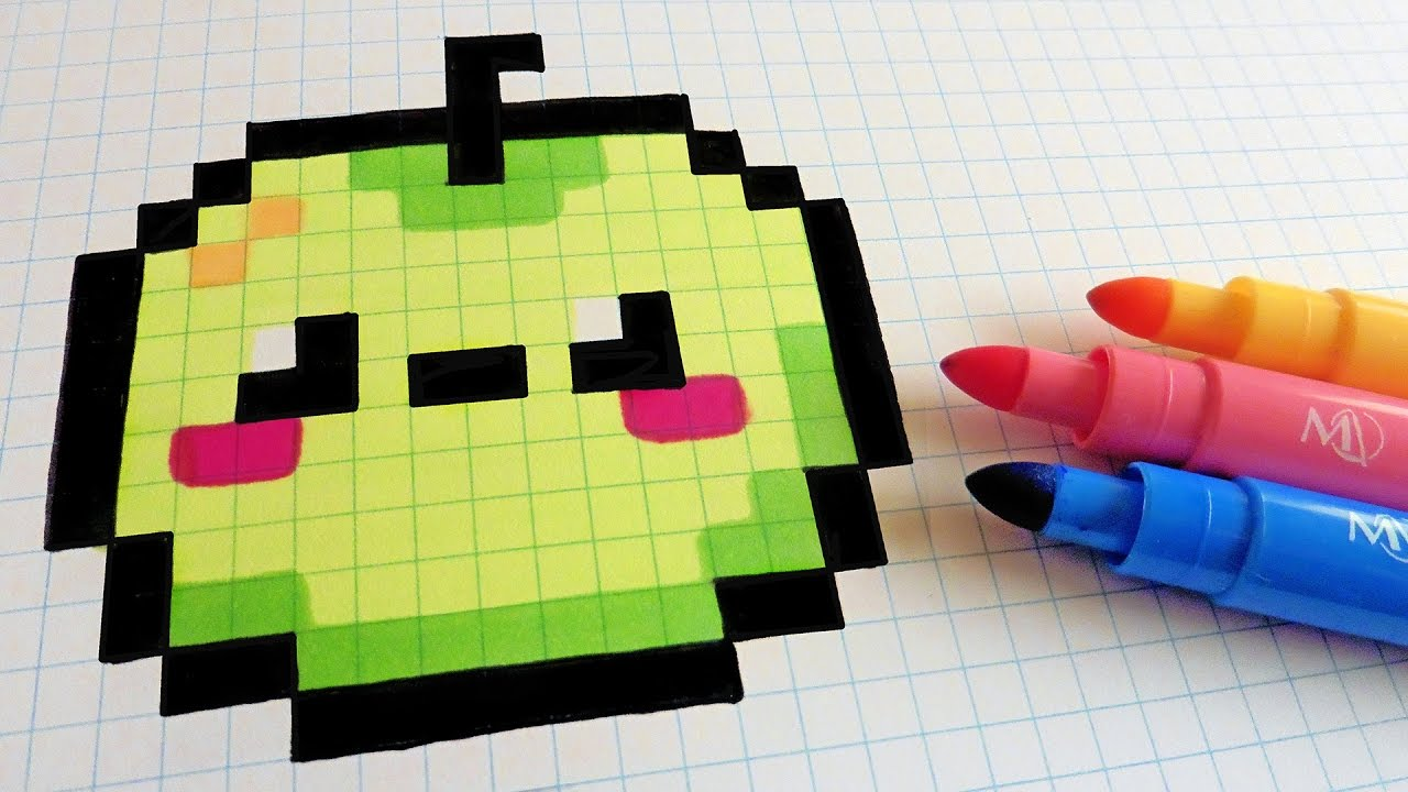 Easy Cute Grid Kawaii Pixel Art