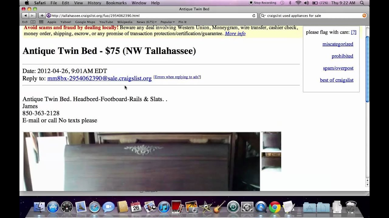 Iron crib for sale craigslist - Craigslist Used Furniture For Sale By Owner Prices Under 100 Youtube