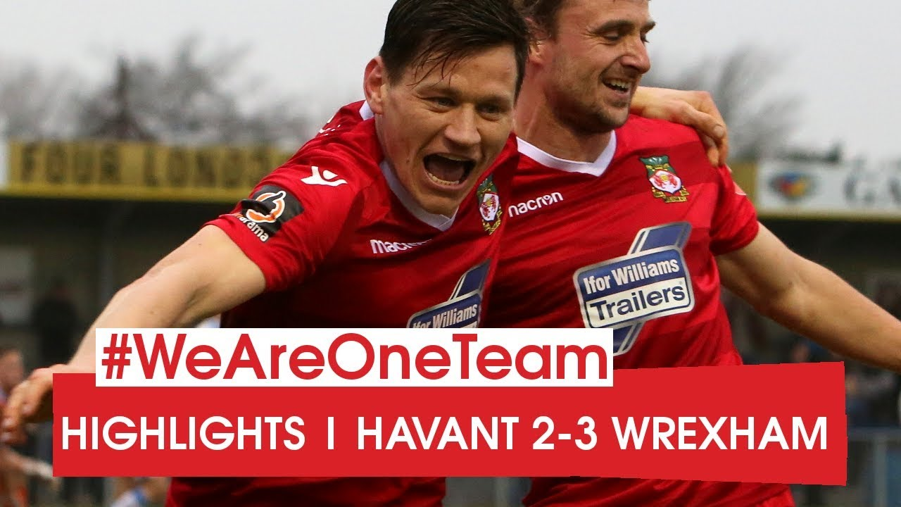 2e45df132928 HIGHLIGHTS | Havant & Waterlooville 2-3 Wrexham - YouTube