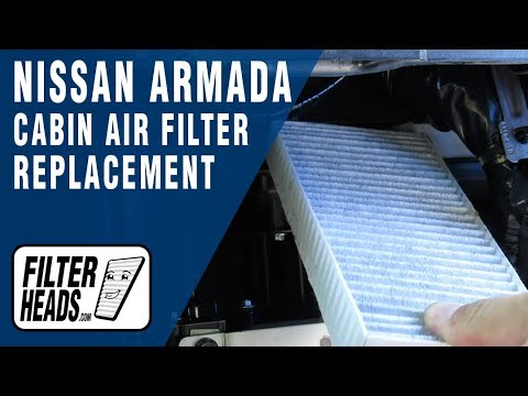 How to Replace Cabin Air Filter 2014 Nissan Armada